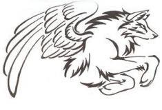 how-to-draw-a-tribal-winged-wolf-tattoo-step-3