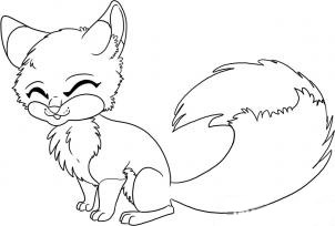 how to draw a white fox
