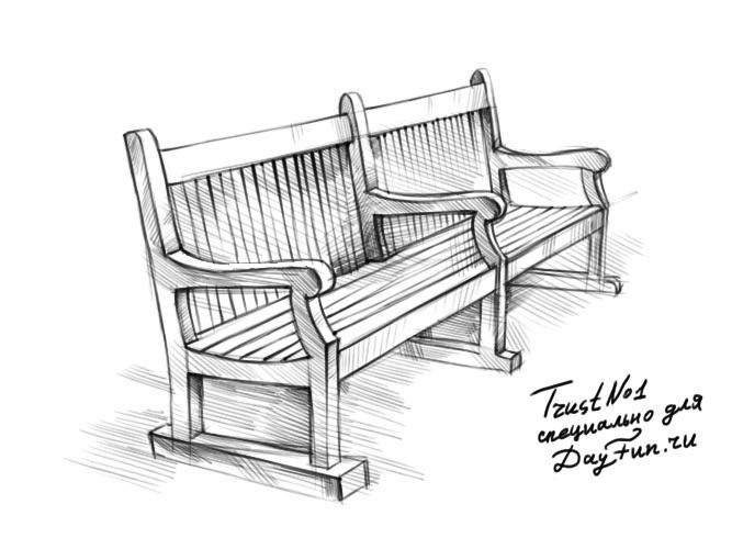 Park Bench Drawing at GetDrawingscom  Free for personal